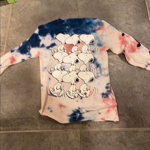 Peanuts Snoopy long sleeve tye dye shirt